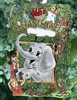 Netti´s Elefantenwelt 1 (Deutsch oder Englisch), 2 oder 3 in Deutsch oder Elefantenwelt Malbuch