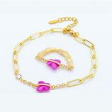 Bracelet + Bague Acier