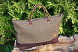 Tweed- Reisetasche, einfarbig