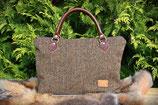 Tweed- Handtasche, einfarbig