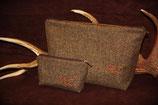Tweed Kultur- & Kosmetiktasche, ohne Bestickung, fix&fertig