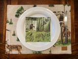 Jagdliche Tischsets und Tischläufer, verschiedene Motive