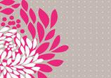 Grusskarte Pink Flower