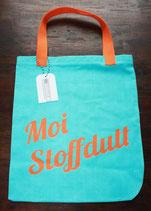 "Stoffdutt Türkis - Orange ""Moi Stoffdutt"""