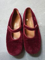 Samt-Ballerinas / Hausschuhe Gr. 34