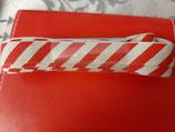 Nähband Streifen rot