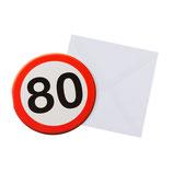 Verkehrsschild 80
