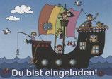 """Einladungsset """"Piratenschiff"""""""