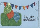 """Einladungsset """"Luftballons"""""""
