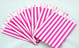 20 pink-gestreifte Papiertüten