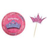 Cupcake Förmchen Prinzessin (24 Stück)