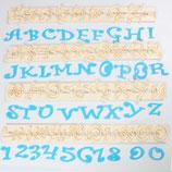 FMM Alphabet Ausstecher Chucky Funky - Große Buchstaben und Zahlen