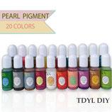 Pearl Pigment (Perleneffekt) Farbenset (20 Farben) für UV-Resin