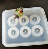 Silikonform Perlen mit Loch in 2 verschiedenen Grössen