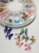 Mikro Schmetterlinge (aus Plastik) zum Eingiessen in Resin