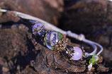 EINZELSTÜCK -  Märchenwelt Blüten einer Rose, Staticen, Vergissmeinnicht und Delphiniumblüten mit einem Elfenanhänger 2,5 cm Nr. 784