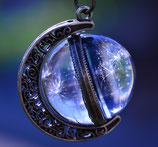 EINZELSTÜCK - Mond mit Pusteblumenschirmchen (zum Drehen) - Nr. 820