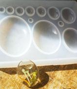 Silikonform für ovale Cabochons
