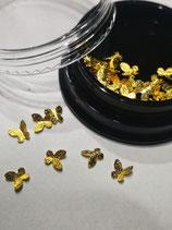 winzige Schmetterlinge goldfarbig zum Eingiessen in Resin