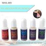 Polarization Pearl Pigment (Polarisations Farben) Farbenset (5 Farben) für UV-Resin
