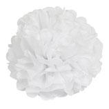 Pompom weiß, 20 cm