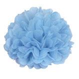 Pompom hellblau, 35 cm