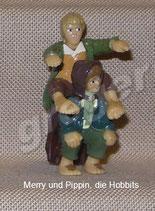 Herr der Ringe, die Gefährten von 2000  - Merry und Pippin, die Hobbits  mit BPZ   1x
