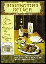 AK Reklamekarte vom Augustiner Keller in Wien    63/19