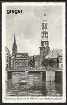 AK Deutsches Reich. Hamburg, St. Nikolai-und Catharinenkirche    91i
