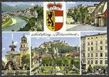 AK Salzburg, die Festspielstadt, Mehrbildkarte     54/42