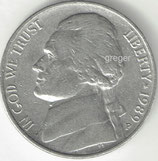Kursmünze USA FIVE CENTS von 1989 P  3x