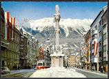 AK Innsbruck Maria-Theresien-Straße mit Annasäule und Nordkette   30/3