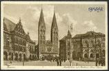 AK Deutsches Reich Bremen, Marktplatz mit Rathaus    35i