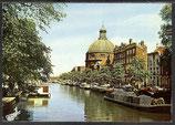 AK Amsterdam, Singel mit Kirche    49/20