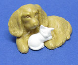 Tierfreundschaften  von 1996/97 - Hund und Katze - mit BPZ Nr. 659029 - 4x