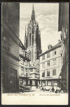 AK Gruss aus Frankfurt Dom von der Benderqasse  8/50
