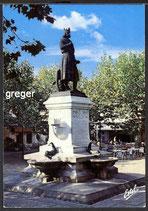 AK Aigues-Mortes, Le statue du Ral Saint-Louis    34-o