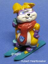Hanny Bunny´s Lustige Skihasen von 1996  - Hubert Heartbreaker  - mit BPZ   -  2x