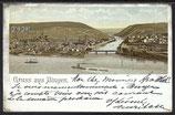 AK  Deutsches Reich Gruss aus Bingen  vom 16.8.1900    87g