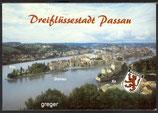 AK Passau Dreiflüssestadt, Panorama    90p