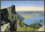 AK Panorama, Schafberg Spitze mit Mondsee     52/37