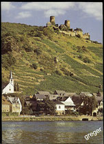 Postkarte Alken mit Burg Thurandt an der Mosel    67/8