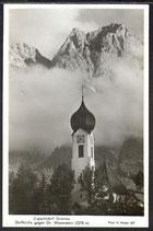 AK  Zugspitzdorf Grainau Dorfkirche   18/11 kl