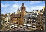 AK Basel Rathaus mit Marktplatz    z48