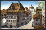 AK Deutsches Reich v. 1920 Nürnberg-Dürerhaus, Marke Bildseitig    3/33