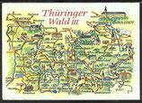 AK Landkarte DDR Thüringer Wald    q25