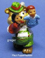 T.T.Teddies in Volksfeststimmung von 1996  - Paul Puppenspieler  - mit BPZ  -   15x