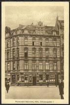 AK Deutsches Reich v. 1929 Köln  Restaurant Heinrichs, Clodwigplatz 1    4/38