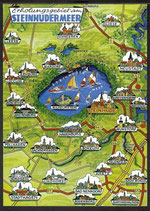 AK Landkarte Steinhuder Meer    q6