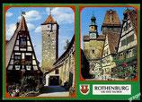 AK Rothenburg ob der Tauber, Mehrbild   68/32